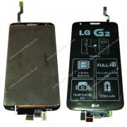 Дисплейный модуль для LG G2 D802, черный оригинал
