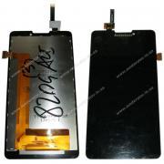 Дисплейный модуль для Lenovo P780 с рамкой, черный